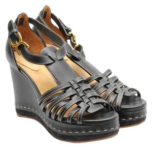 Chloé Marcie Sandal Platform Leather Black Wedges