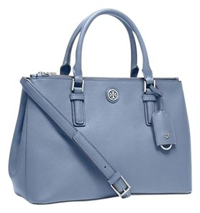 Tory Burch Saffiano Leather; 100% Guaranteed Or Your Money Back! Satchel in Comet