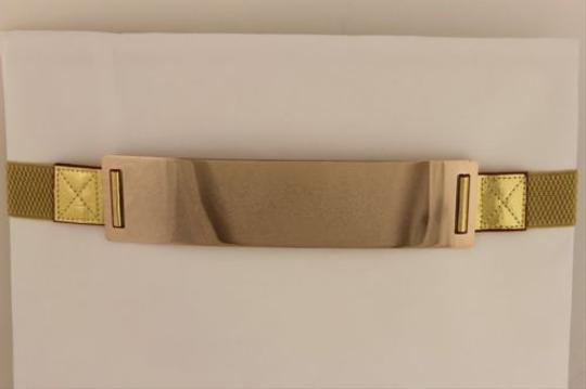 Other Women Elastic Belt Gold High Waist Hip Gold Metal Mirror Plate Fashion