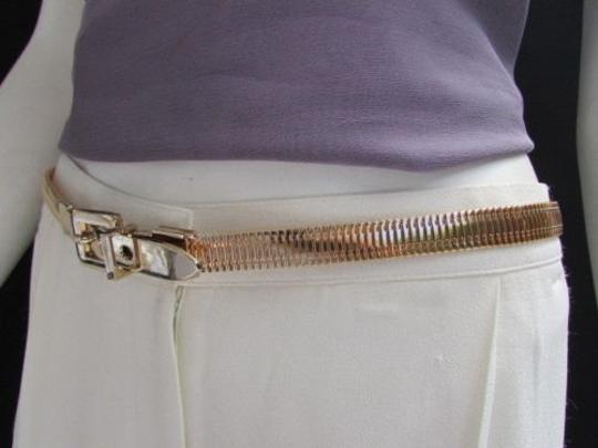 Other Casual Women Belt Fashion Hip Waist Gold Thick Link Metal Thin 40-41.5 Ml