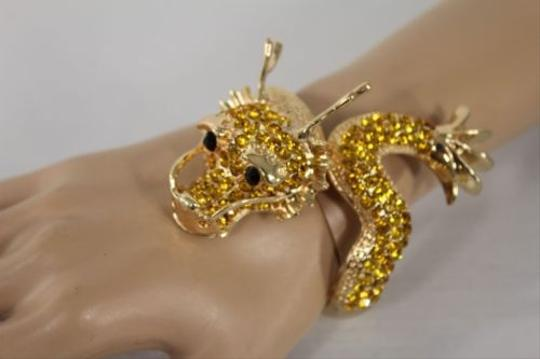 Preload https://item5.tradesy.com/images/women-cuff-bracelet-gold-chinese-big-dragon-fashion-animal-gold-rhinestones-4283344-0-0.jpg?width=440&height=440