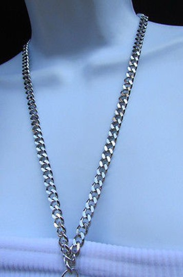 Other Women Necklace Long Fashion Big Silver Metal Hand Cuffs Chains 20 Drop