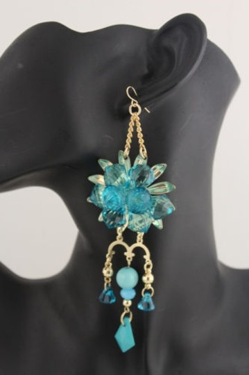 Preload https://item3.tradesy.com/images/women-flower-plastic-crystal-beads-metal-chains-fashion-earrings-blue-gold-white-4283452-0-0.jpg?width=440&height=440