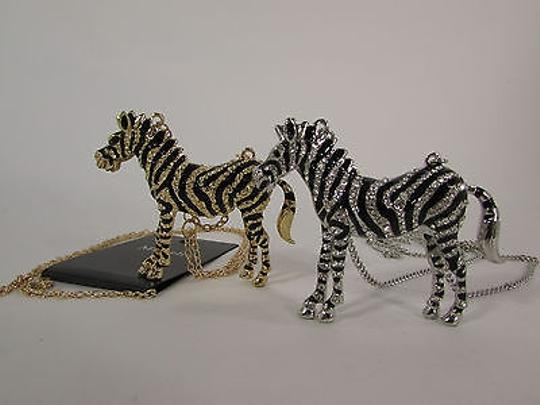 Other Women Necklace Fashion Metal Zebra Long Chains Classic Gold Silver Mix