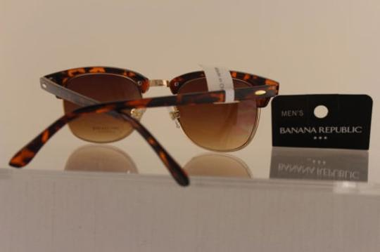 Banana Republic Banana Republic Men Women Fashion Sunglass Gold Brown Leopard Frame Uvauvb Lens