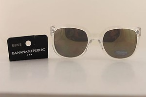Banana Republic Banana Republic Men Women Fashion Sunglass Clear Frame Dark Lens Uvauvb
