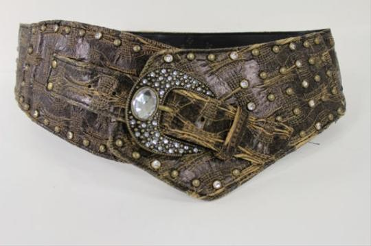 Preload https://item5.tradesy.com/images/other-women-belt-gray-brown-faux-leather-wide-western-waist-fashion-metal-buckle-4283539-0-0.jpg?width=440&height=440