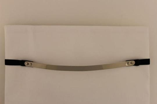 Other Women Elastic Band Thin Skinny Fashion Belt Hip Waist Metal Plate Gold Silver