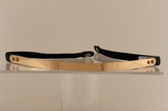 Other Women Elastic Black Band Skinny Fashion Belt Hip Waist Metal Plate Gold Silver