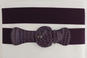 Other Women Belt Wide Elastic Purple Fashion Hip High Waist Round Buckle Plus