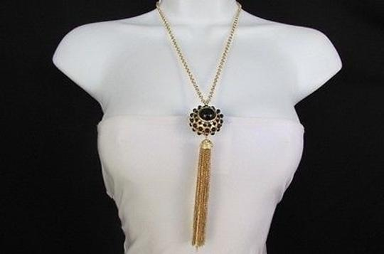 Preload https://item3.tradesy.com/images/women-26-long-gold-metal-chains-fashion-necklace-big-ball-black-dots-fringe-4283962-0-0.jpg?width=440&height=440