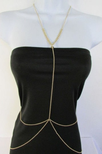 Preload https://item1.tradesy.com/images/women-necklace-fashion-circles-neck-gold-metal-body-chain-thin-long-jewelry-4283980-0-0.jpg?width=440&height=440