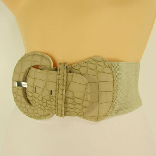 Other Women Belt Fashion Hip High Waist Beige Nude Elastic Plus 32-45
