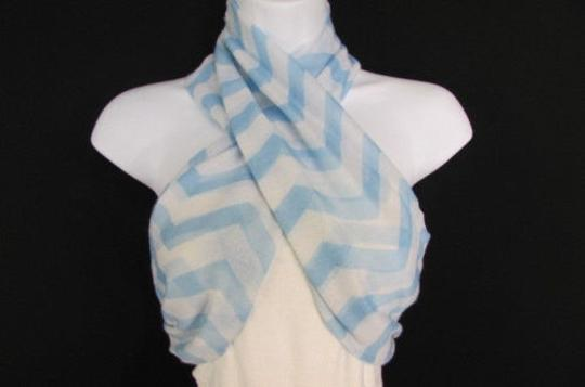 Other N Women Scarf Fashion Fabric Infinity Loop Chevrons Pink Black Blue Green Yellow