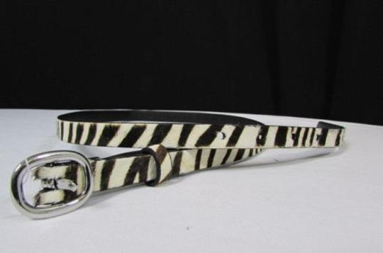 Banana Republic Belt Fashion Banana Republic Women Narrow White Zebra Faux Leather