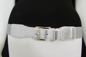 Women Belt Fashion Elastic Waist Hip 25-35 Black Brown Gold Silver