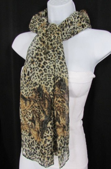 Other Women Fashionable Soft Thin Fabric Wide Scarf Shawl Tiger Leopard Animal Print