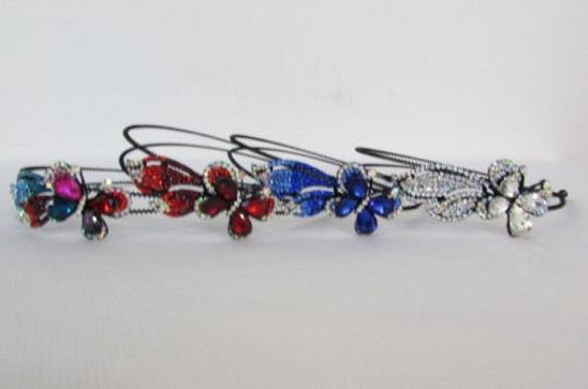 Preload https://item5.tradesy.com/images/women-fashion-headband-flying-butterfly-silver-red-blue-multi-rhinestones-4284214-0-0.jpg?width=440&height=440