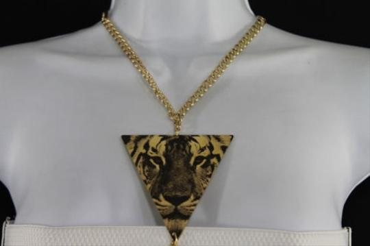 Other Women Gold Body Chain Fashion Jewelry Tiger Head Print Charm Waist Long Necklace