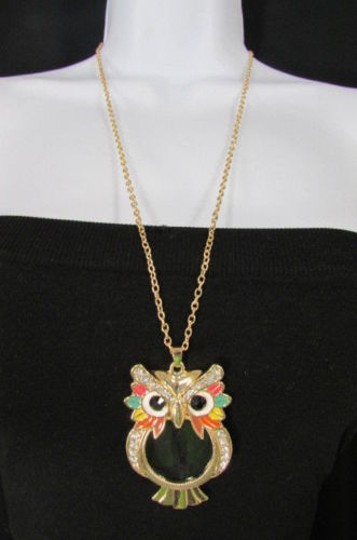 Preload https://item2.tradesy.com/images/women-long-fashion-necklace-gold-chains-multicolor-owl-magnifying-glass-pendant-4284361-0-0.jpg?width=440&height=440
