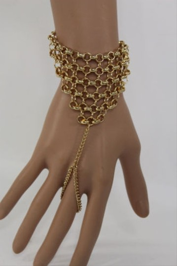 Other Women Wrist Bracelet Gold Finger Slave Ring Fashion Jewelry Hand Chain Links