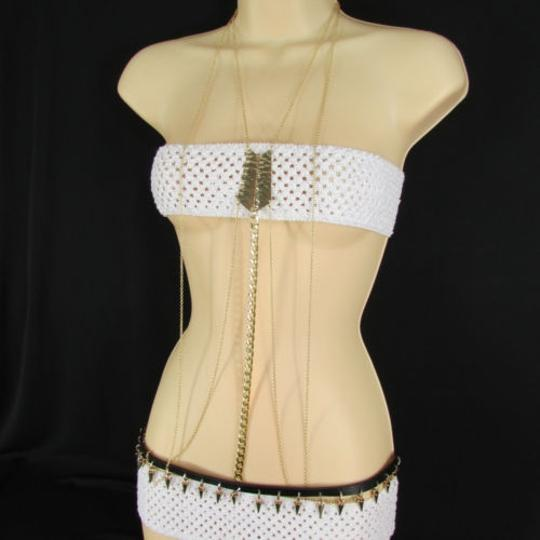 Other Women Necklac Belt Body Fashion Gold Metal Body Chain Multi Spikes Jewerly