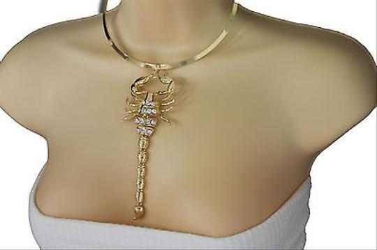 Other Women Gold Metal Plate Choker Scorpion Pendant Fashion Necklace Jewelry