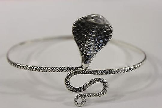 Other Women Upper Arm Cuff Bracelet Silver Snake Metal Fashion Jewelry Chain Cobra