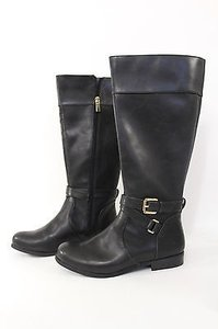 Banana Republic Women Riding Fashion Winter Faux Leather Black Boots