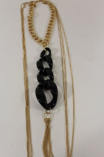 Other Women Chunky Black Links Gold Body Chain Fashion Jewelry Beach Long Necklace