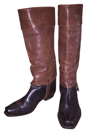 Preload https://item2.tradesy.com/images/juicy-couture-dark-brown-and-rustic-two-tone-western-style-bootsbooties-size-us-9-regular-m-b-4284676-0-0.jpg?width=440&height=440
