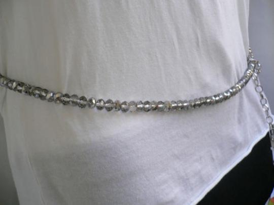 Other Woemen High Waist Hip Clear Crystal Thin Metal Fashion Belt 29-40