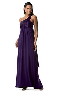 David's Bridal Purple F13185 Bridesmaid/Mob Dress Size 4 (S)