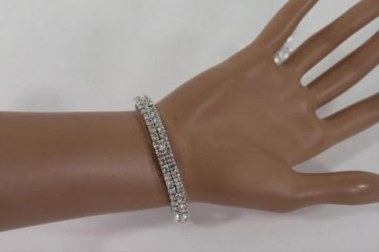 Other Women Silver Metal Hand Chain Fashion Bracelet Slave Feather Wedding Bangle