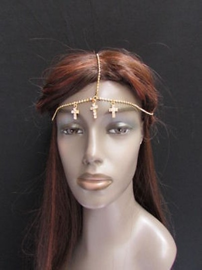 Preload https://item5.tradesy.com/images/women-head-chain-gold-metal-center-cross-jewerly-grecian-hair-rhinestones-4284829-0-0.jpg?width=440&height=440