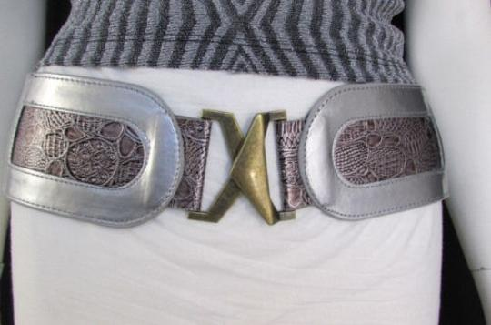 Other Women Black Gold Silver Faux Leather Fashion Belt Hip Waist 26-31