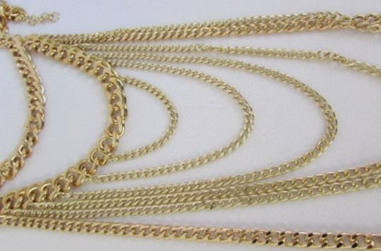 Other Women Necklace Fashion Long Layers Drop Fringes Gold Metal Chains 25 Drop