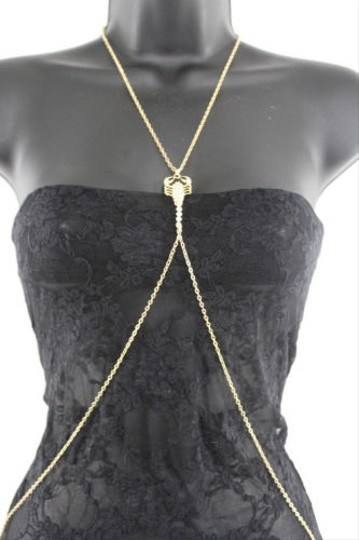 Other Women Gold Scorpion Charm Body Chain Fashion Jewelry Beach Bikini Long Necklace