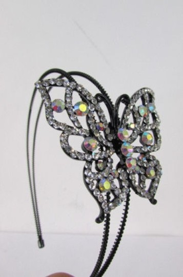 Preload https://item1.tradesy.com/images/women-headband-fashion-big-butterfly-silver-pewter-red-multi-rhinestones-4284925-0-0.jpg?width=440&height=440