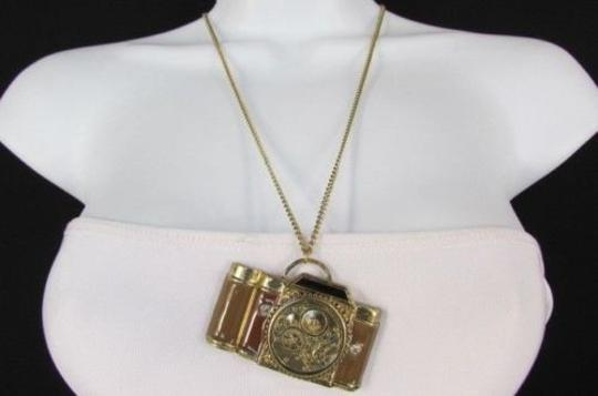 Preload https://item5.tradesy.com/images/women-necklace-fashion-26-long-rusty-gold-chains-brown-old-style-camera-4284949-0-0.jpg?width=440&height=440