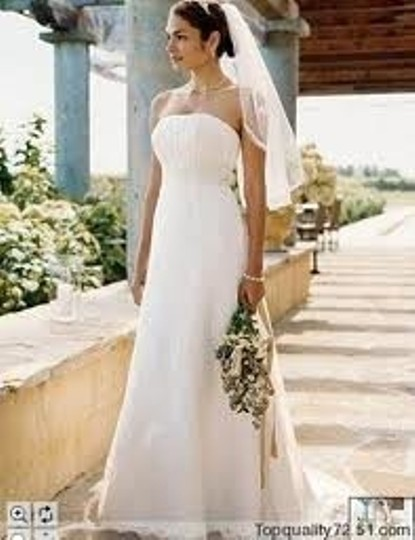 David's Bridal Ivory Lace T9658 Modern Wedding Dress Size 16 (XL, Plus 0x)