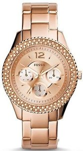Fossil Fossil Stella Rose Gold-tone Chronograph Ladies Watch Es3590