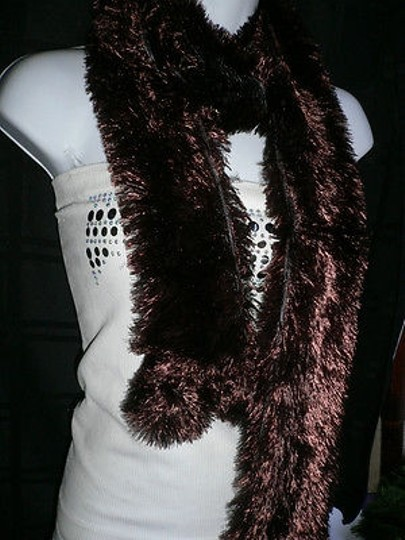 Other N Women Scarf Dark Chocolate Furry Party Scarve Year Style 100 Polyester