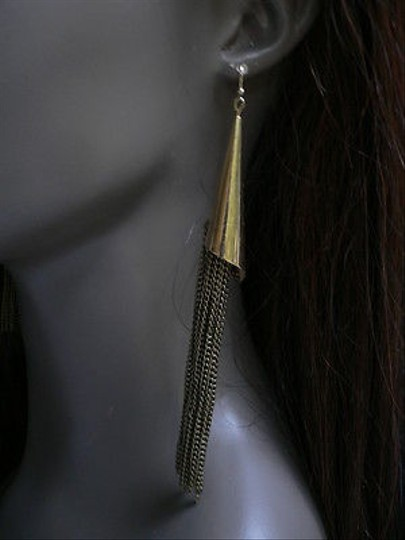 Other Women Earringsfashion Long Antique Gold Cones Chains 6 Basketball Wives