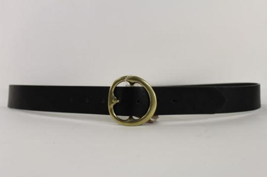Other Modern Heritage Women Men Fashion Belt Black Faux Leather Buckle 41-47