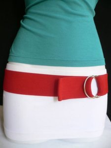 Other Women Belt Fashion High Waist Hip Stretch Red Casual Elastic