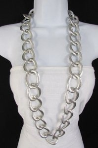 Other Women Gold Silver 20 Long Metal Thick Chain Links Fashion Necklace