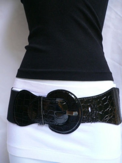 Other Women Fashion Hip Elastic Waist Stretch Black Belt 25-42