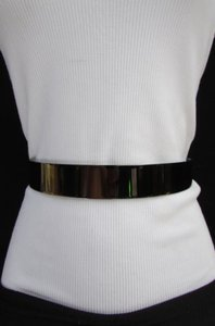 Other Women Pewter Full Metal Plate Mirror Fashion Belt High Waist One 26-36