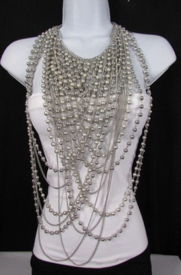 Preload https://item2.tradesy.com/images/women-necklacesilver-metal-25-strands-beads-chains-long-fashion-jewelry-4288591-0-0.jpg?width=440&height=440